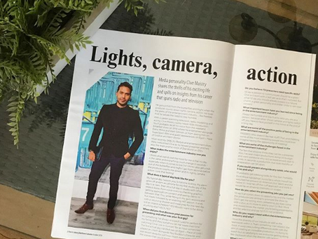 Lights, Camera, Action with Clive Maistry and Get It JHB North Magazine.