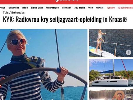 Radiovrou kry seiljagvaart-opleiding in Kroasië with Huisgenoot and LVW.