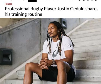 Professional rugby player Justin Geduld shares his training routine with GQ Magazine.