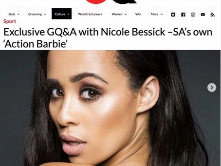 Exclusive GQ&A with Nicole Bessick –SA's own 'Action Barbie' with  GQ Magazine.