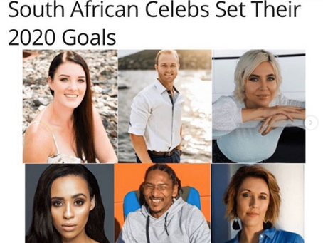South African Celebs Set Their 2020 Goals with Monte Oz live,