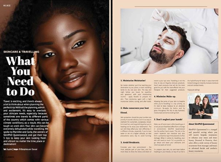 Skincare & Travelling what you need to do Skin Phd Queenswood & AHA Moments Mag.