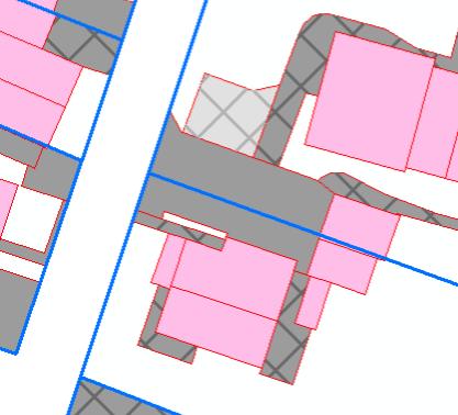 Beispielauszug von Versiegelungsflächen im GIS