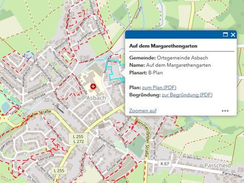 Online-Auskunft der Bebauungspläne in der VG Asbach