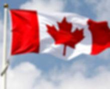 Canadian flag on flag pole