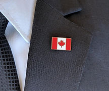 Canadian flag lapel pin
