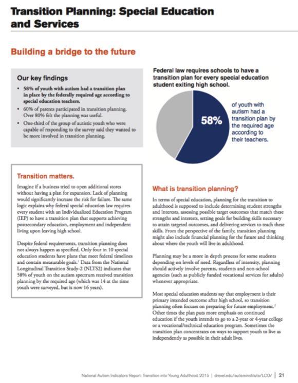 National Autism Indicators Report >> Creating A Brighter Future For Adults With Asd Step One