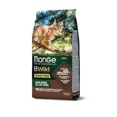 Monge BWild д/кошек корм из мяса буйвола 1,5 кг