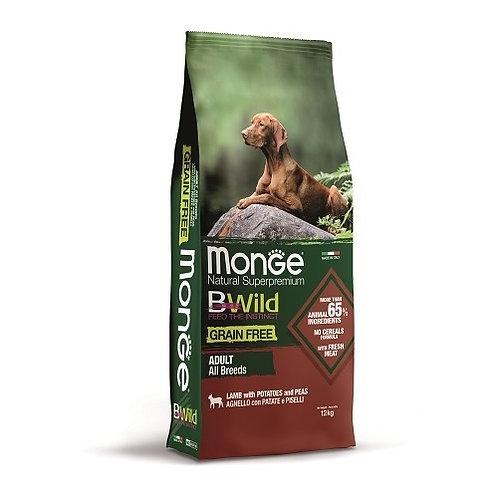 Monge BWild д/собак беззерн.корм из ягненка 12 кг