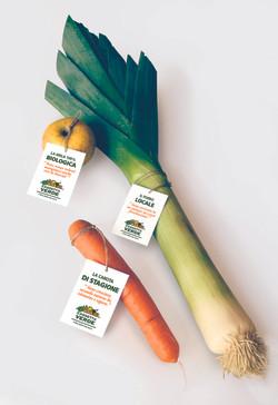 Cartellini per verdure-omaggio