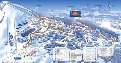 120 km helppoja ja vaativia latuja. Onneksi 7 taukopaikkaa.  120 km of easy and hard ski tracks. Luckily 7 places for rest.