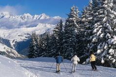 Towards Mont Blanc. Suunta kohti Mont Blancia. Matkaa on tosin 30 km.