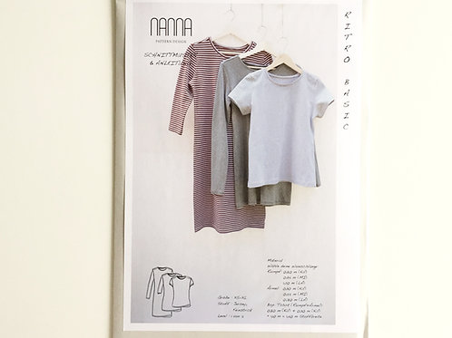 Basic Jersey-Shirt RITRO - Schnittmuster von NANNA