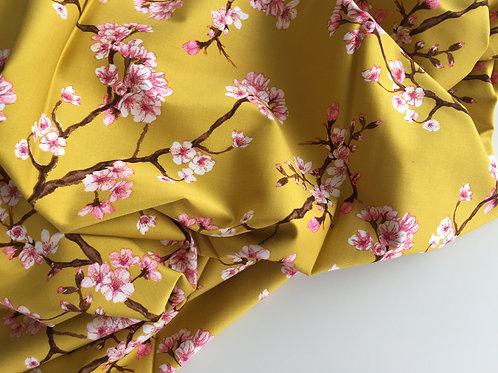 Viskose Stretch Cherry Blossom - senfgelb