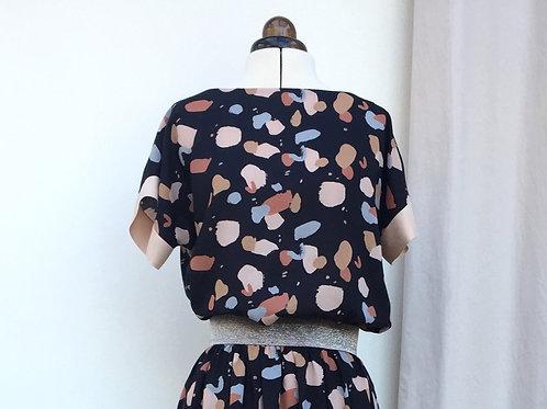 Nähpaket Blusenshirt Bloom bunt - Viskose in 2 Farbvarianten erhältlich