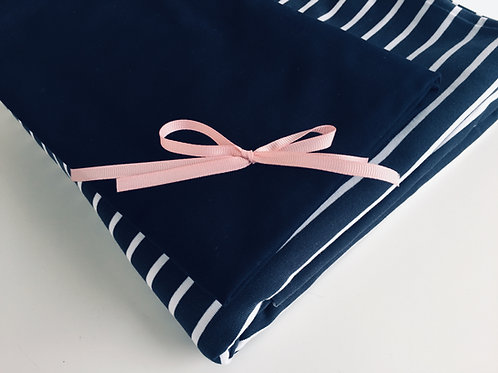 Nähpaket Streifen-Shirt Jersey mit Kontrast