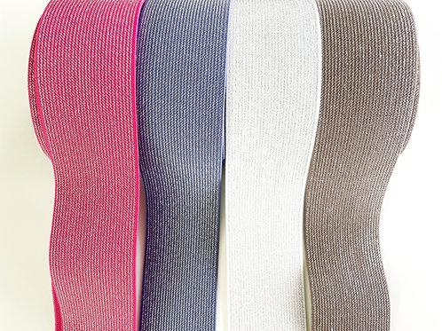 Glitzer-Gummiband 5cm - 4 Farben