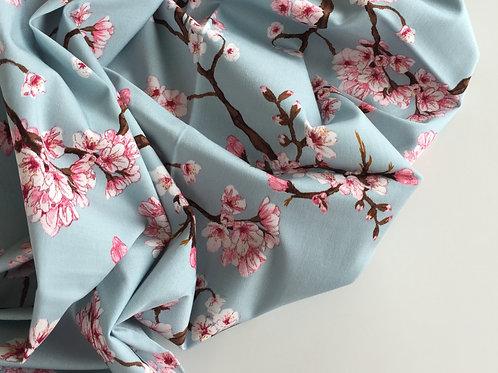 Viskose Stretch Cherry Blossom - hellblau