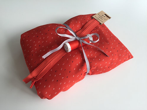 Nähpaket FALTENROCK - Cotton Lawn Tangerine