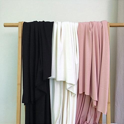 Tencel Modal Jersey - schwarz, ecru, rose