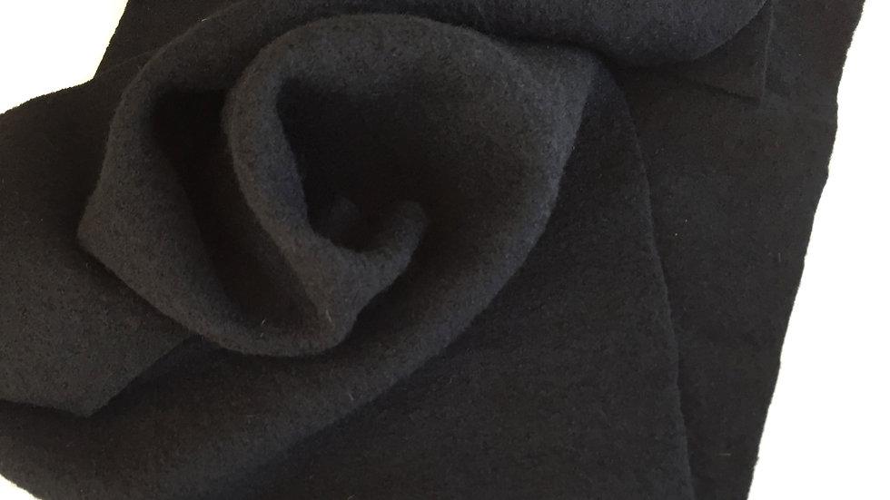 Woll-Walkstoff schwarz