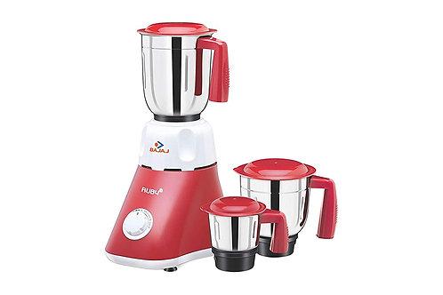 Bajaj Ruby 500-Watt Mixer Grinder with 3 Jars (White/Red)