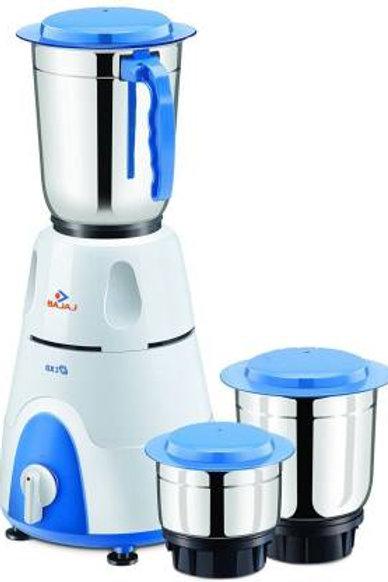 Bajaj GX3 410176 500 W Mixer Grinder (White, 3 Jars)