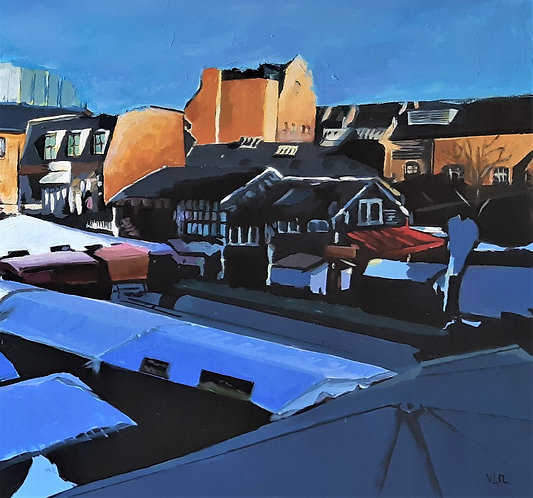 Sun rising on Camden market, 2020 - 81 x 100 cm