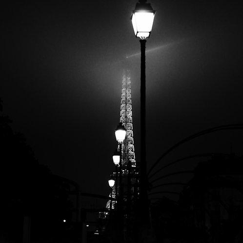 00h00 -  6,09 m, Crue de la Seine, Paris, 2016 - 50 x 50 cm