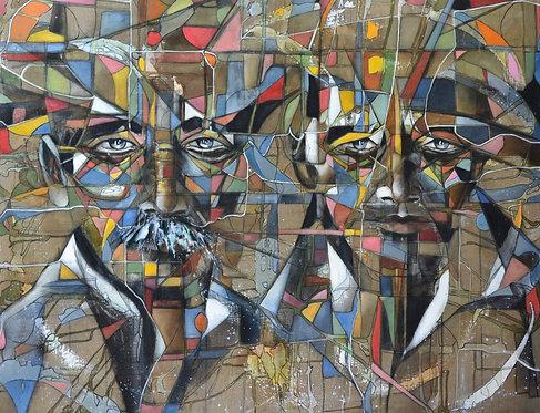 Cubanos IV, 2019-100 x 81 cm