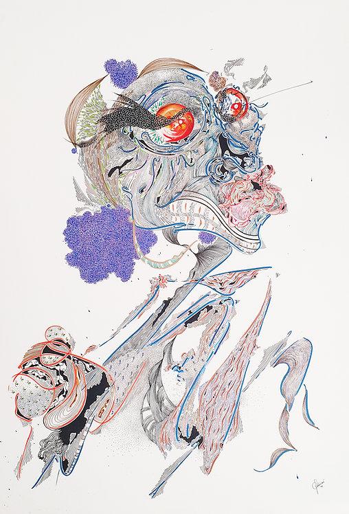 Intribe, 2020-70 x 100 cm