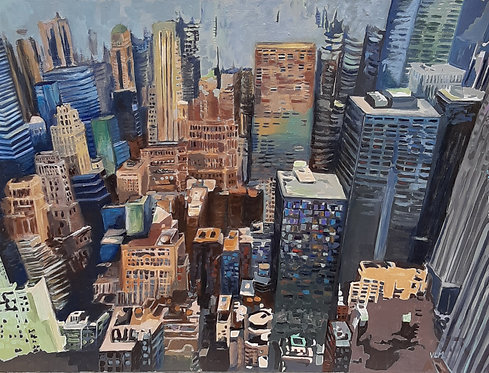 Nueva York Manhattan, 2019-89 x 116 cm