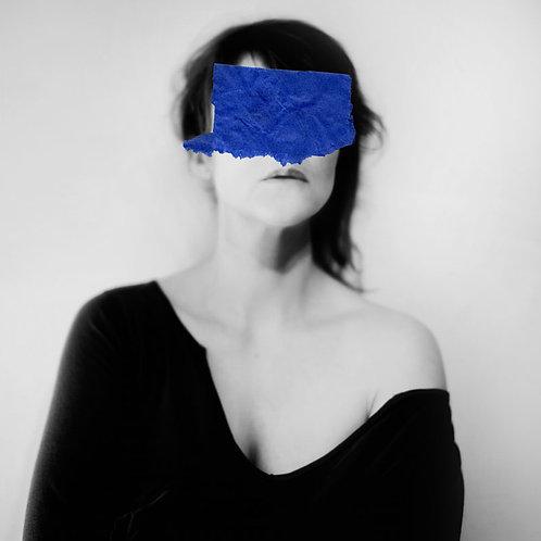 Bleu (Portrait), 2020 - 50 x 50 cm