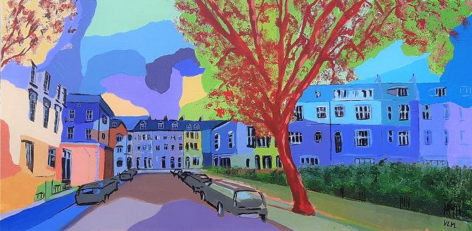 Spring in Notting Hill, 2021 - 50 x 100 x 2 cm