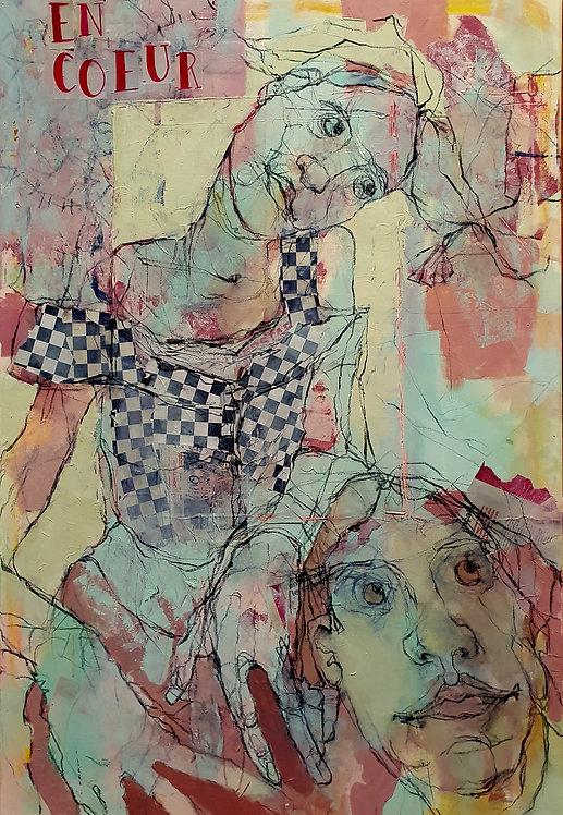 En Coeur, 2020 -130 x 89 x 2,5 cm