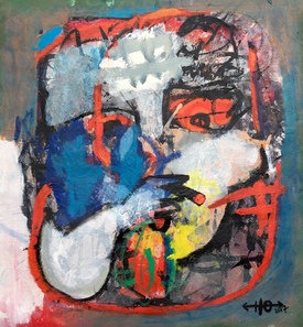 Smoker, 2017  - 76 x 70 cm