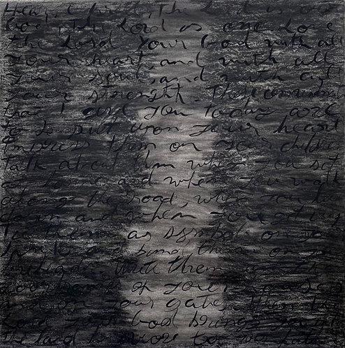 The Shema III, 2021 - 100 x 100 x 2 cm