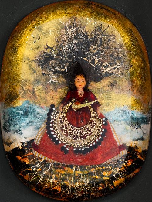 Déesse ou martyre, 2016 - 19 x 14 cm