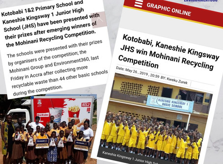 Kotobabi, Kaneshie Kingsway JHS win Mohinani Recycling Competition