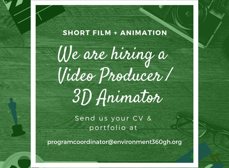 We are hiring a Video Producer / 3D Animator at Environment360