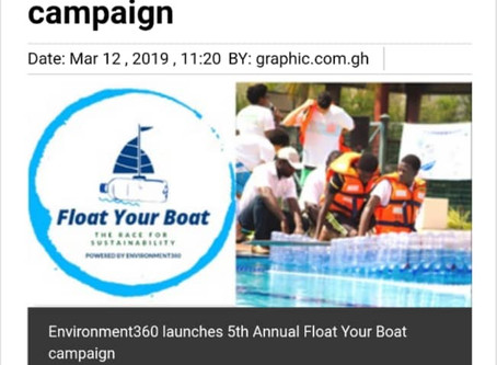 Check out our Float Your Boat Launch Story on Graphic Online!