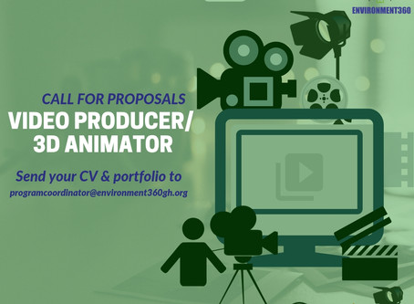 Call for Proposals from Video Producers/ 3D Animators