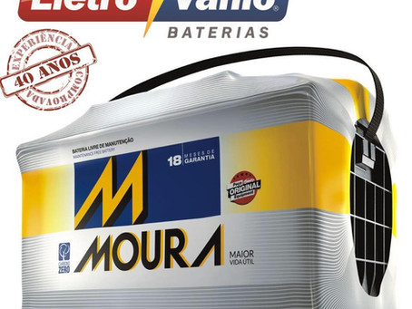 Bateria 60 Ah Moura em Palhoça SC