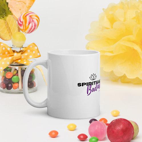 Spiritual Badass White glossy mug