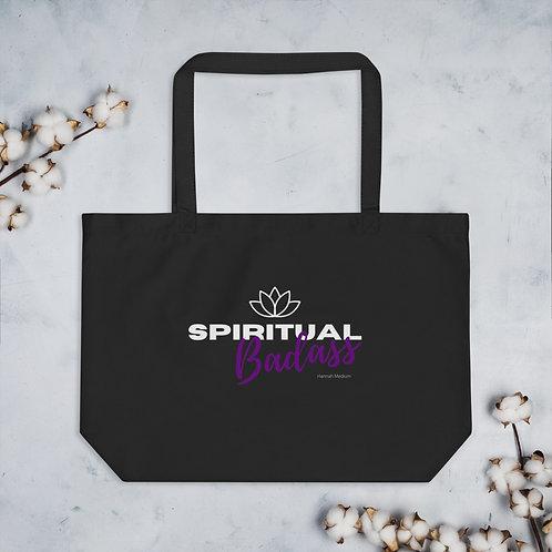 Spiritual Badass Large organic tote bag