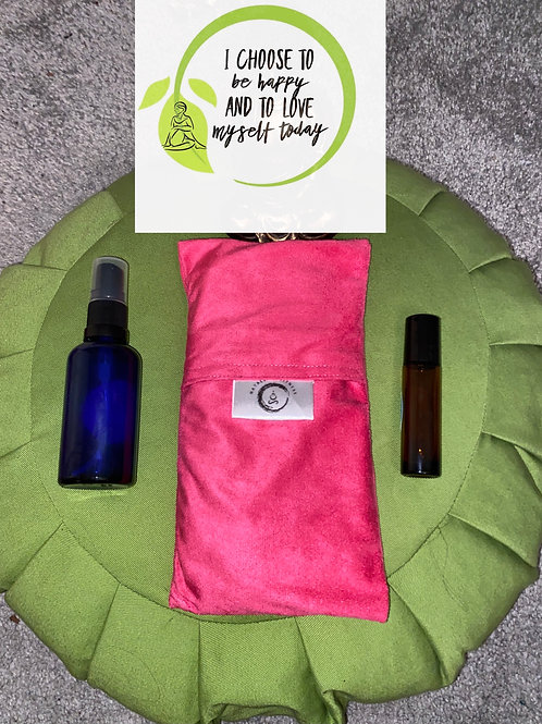 Eye Pillow & Essential Oils Self Care Kit