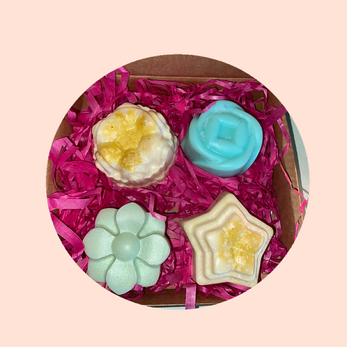 A Box of 4 Medium Wax Melts with Essential Oils