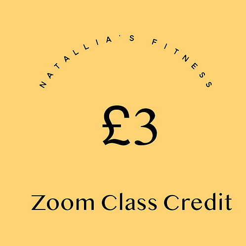 £3 Zoom Class Credit