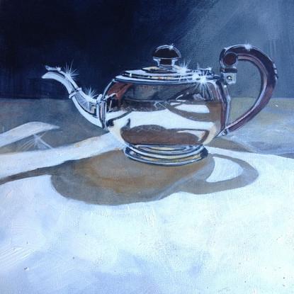 Deco Silver Teapot ©Cat Salter-Smith