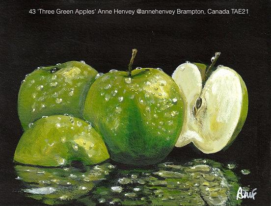 43 'Three Green Apples' Anne Henvey @annehenvey Brampton, Canada TAE21